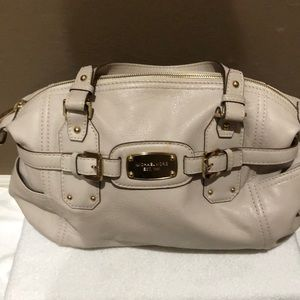 Michael Kors white leather bag